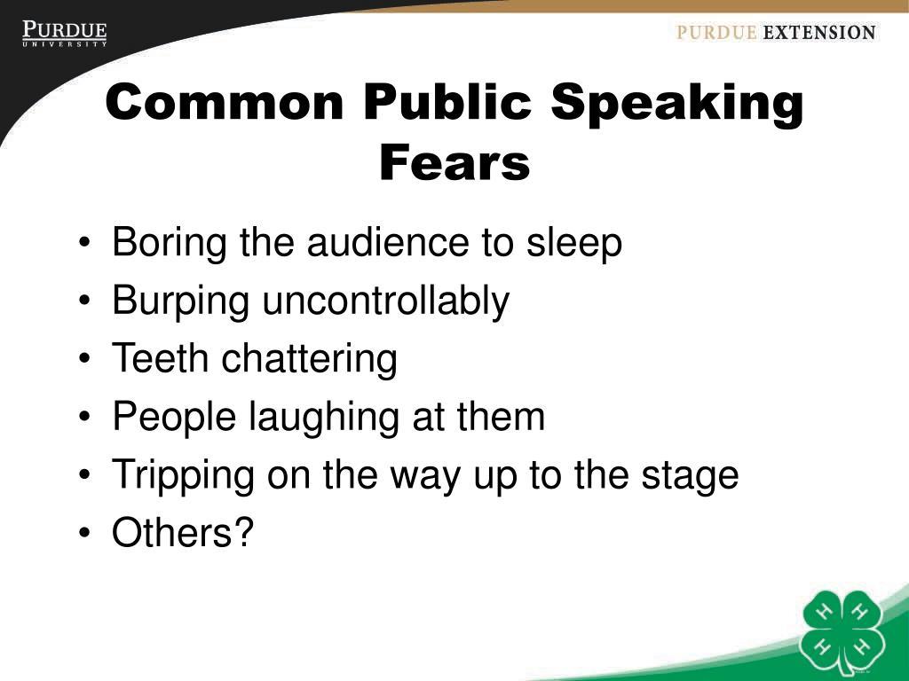 Common Public Speaking Fears