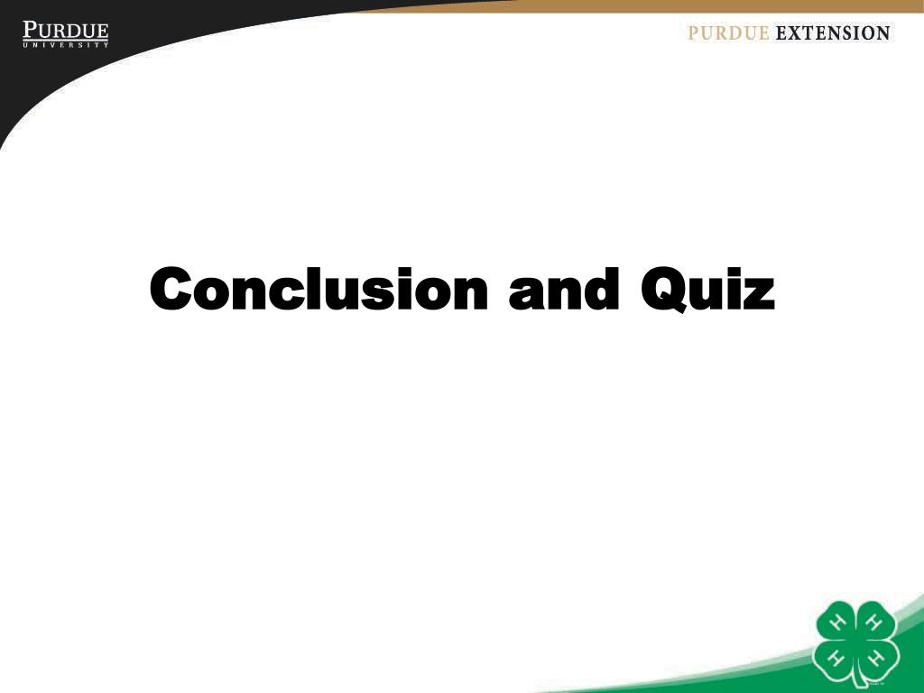 Conclusion and Quiz