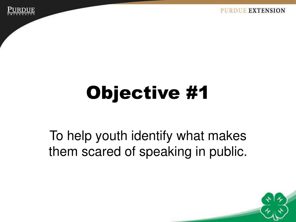 Objective #1