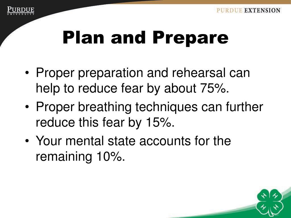 Plan and Prepare