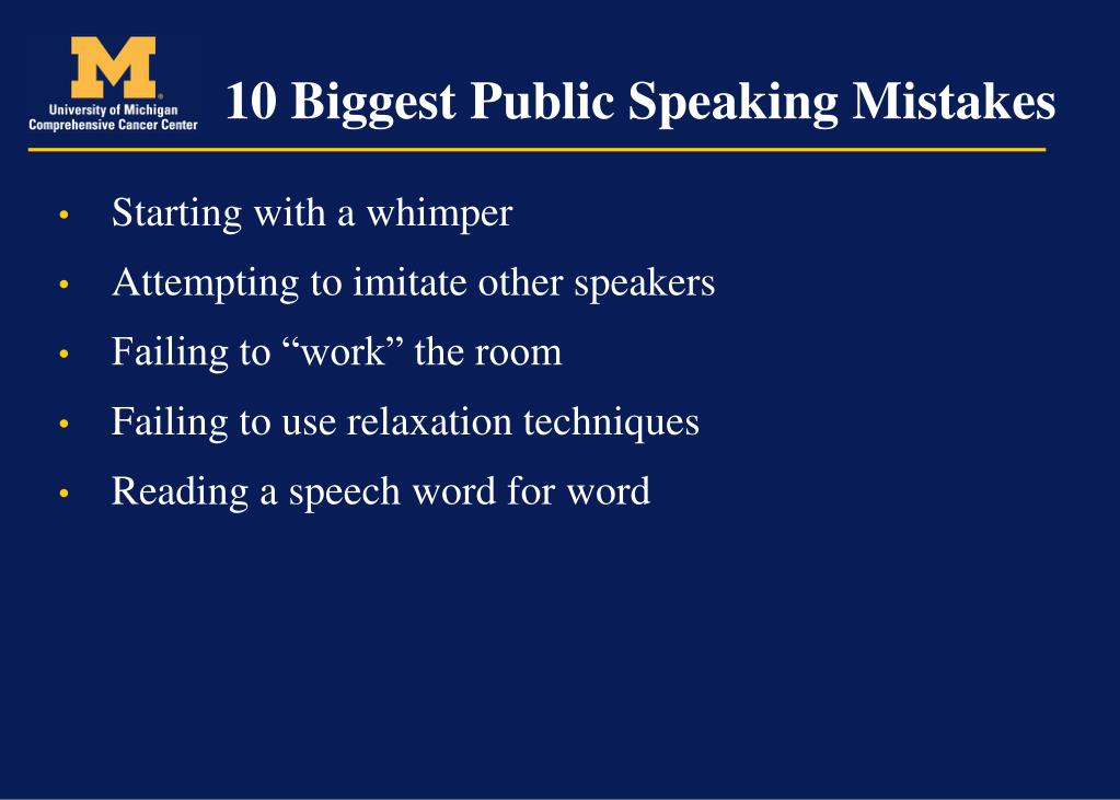 10 Biggest Public Speaking Mistakes