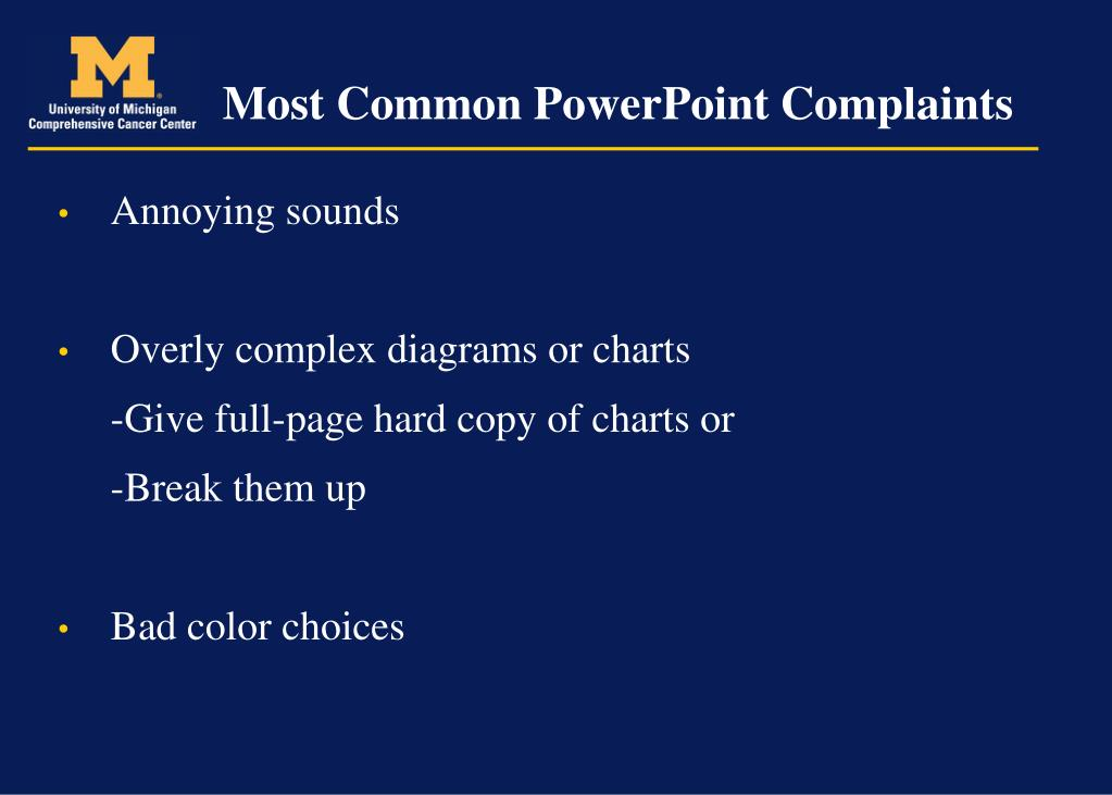 Most Common PowerPoint Complaints