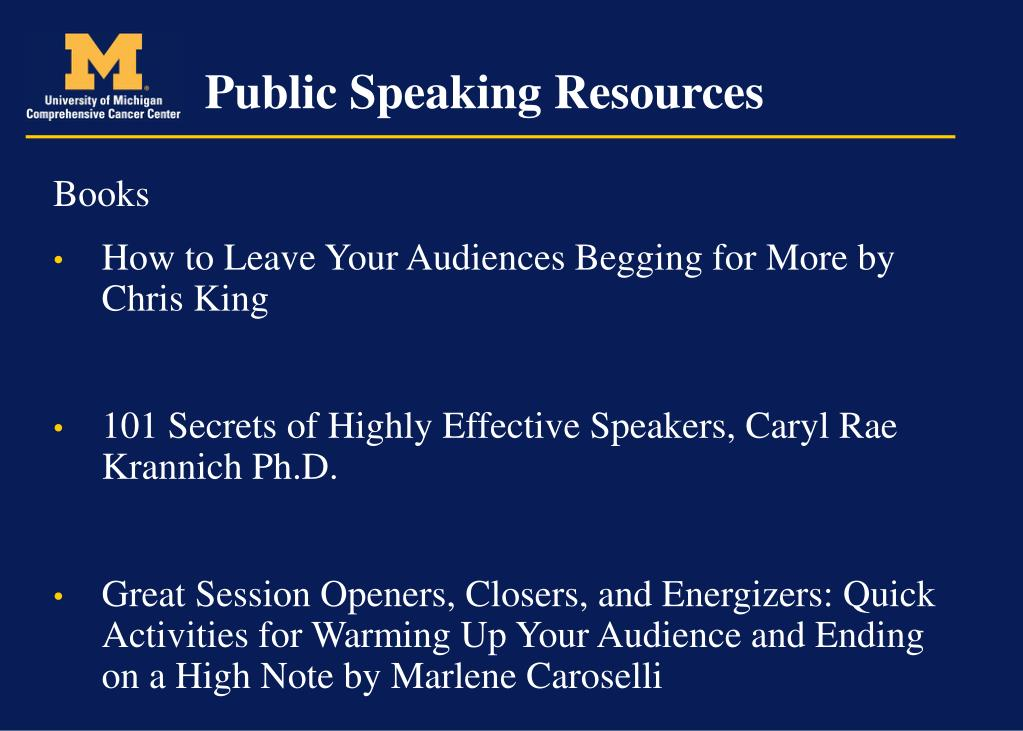 Public Speaking Resources