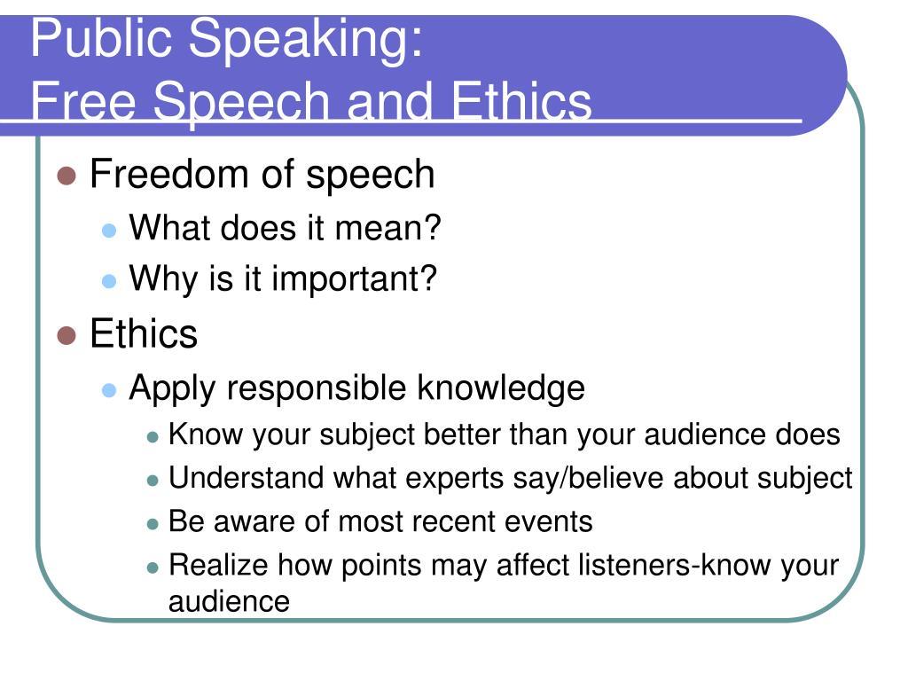 Public Speaking: