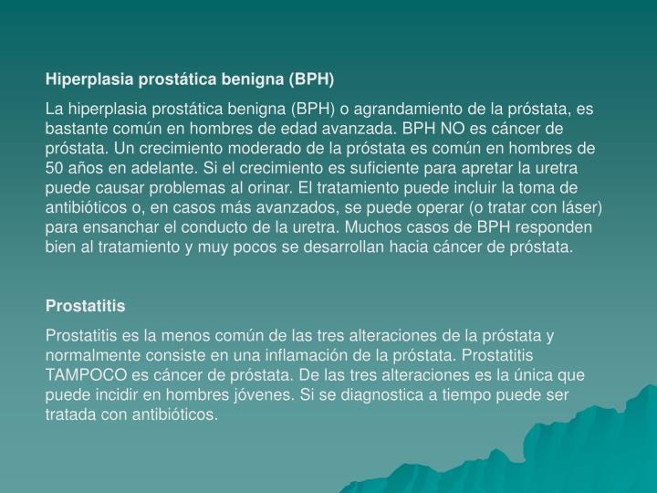 Hiperplasia prostática benigna (BPH)