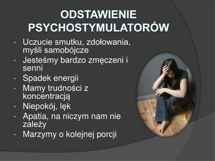 Odstawienie psychostymulatorów