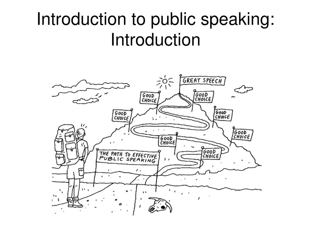 Introduction to public speaking: Introduction