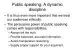 public speaking a dynamic discipline32