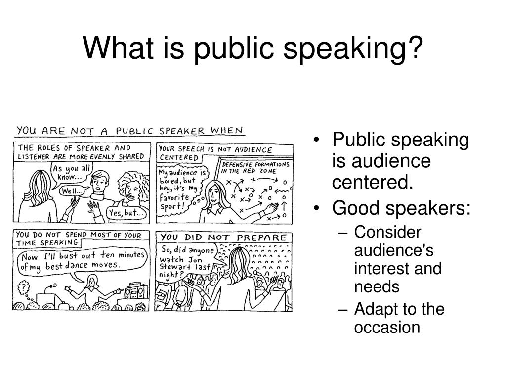 What is public speaking?