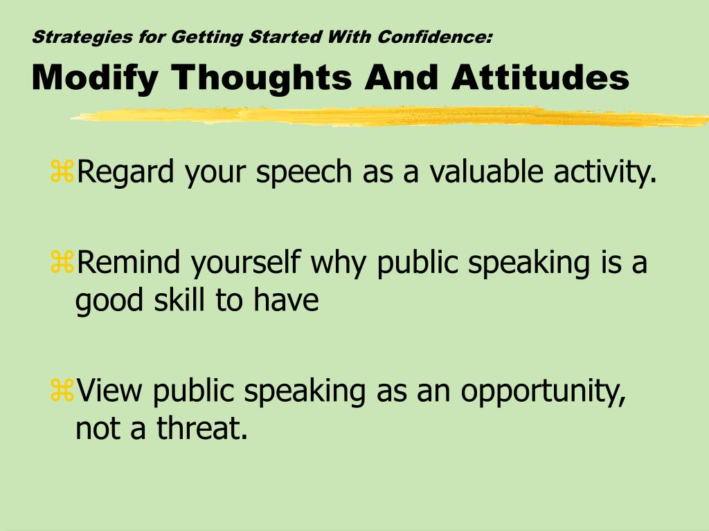 Strategies for Getting Started With Confidence: