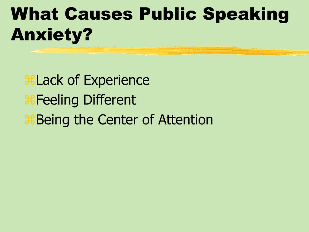 What Causes Public Speaking Anxiety?