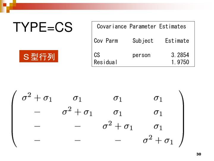 TYPE=CS