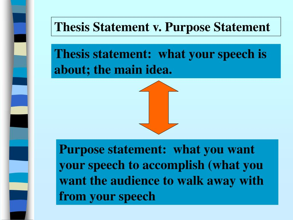 Thesis Statement v. Purpose Statement