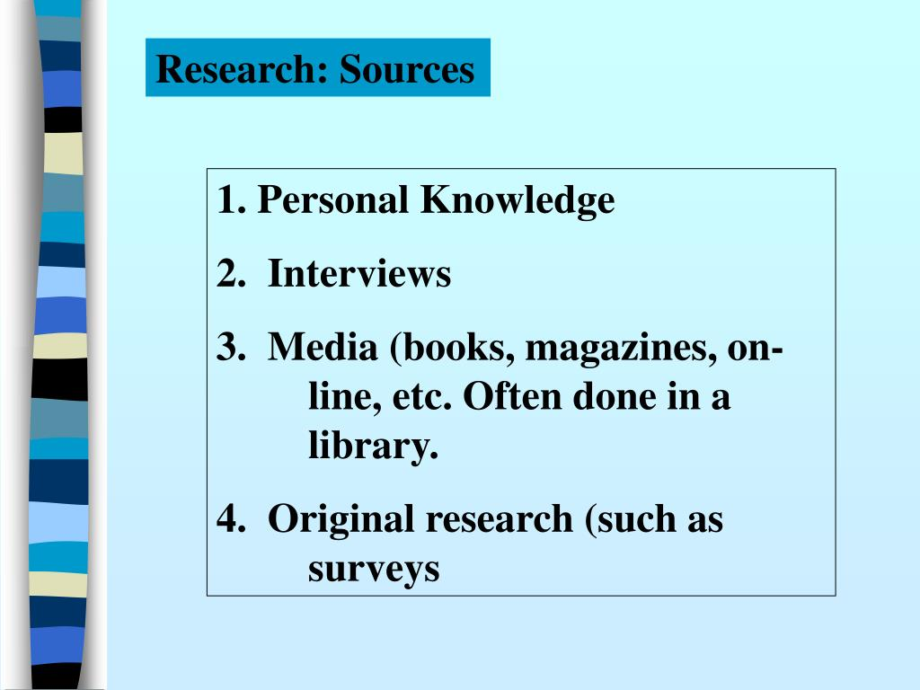 Research: Sources