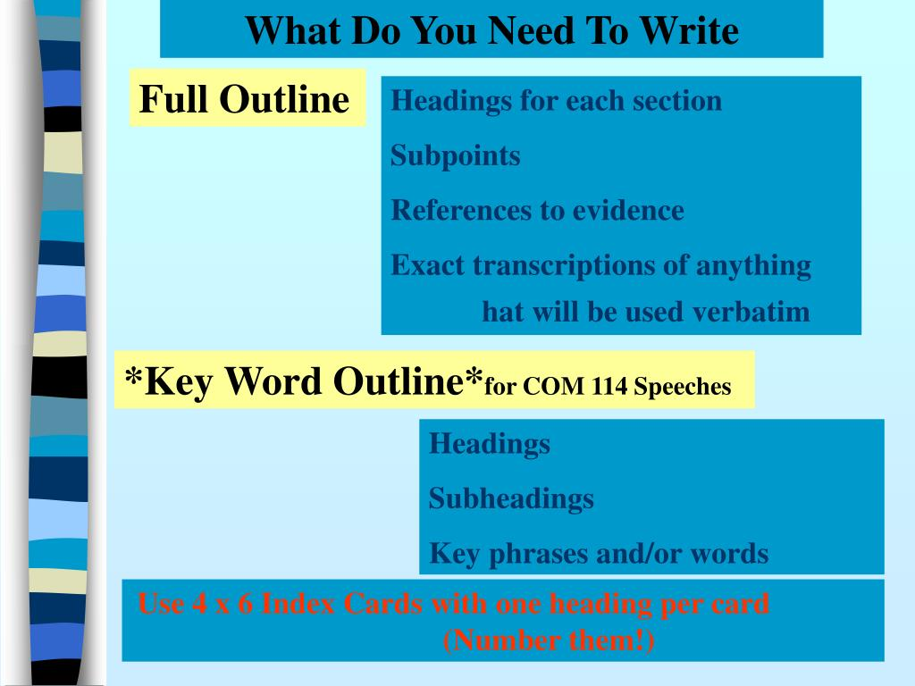What Do You Need To Write