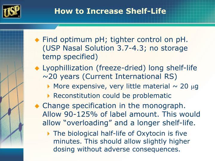 How to Increase Shelf-Life