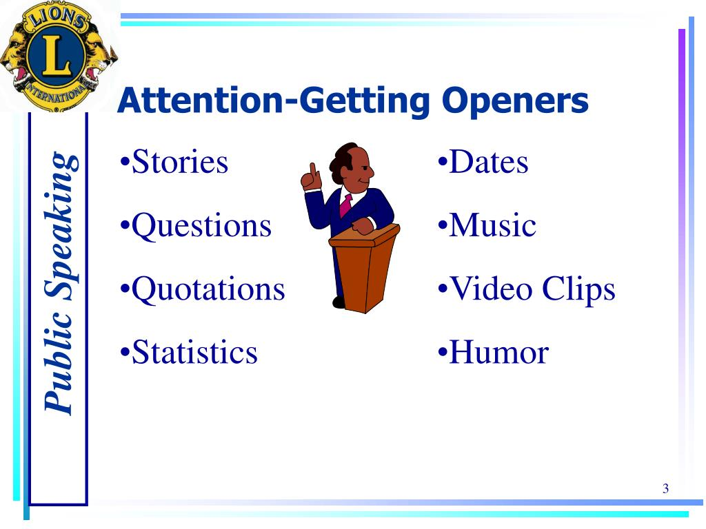 Attention-Getting Openers