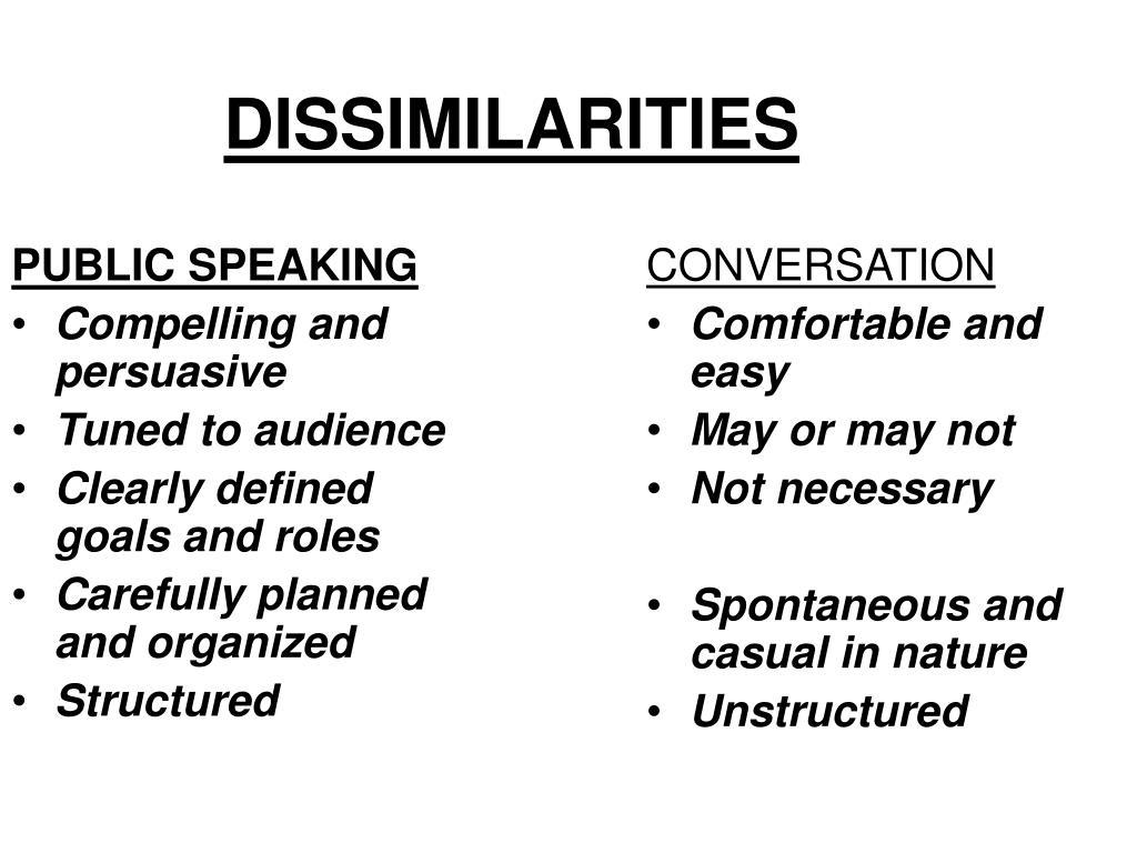 DISSIMILARITIES