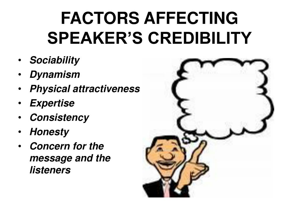 FACTORS AFFECTING SPEAKER'S CREDIBILITY