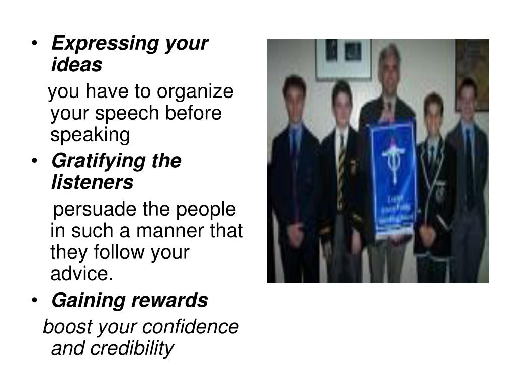 Expressing your ideas