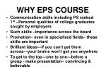 why eps course
