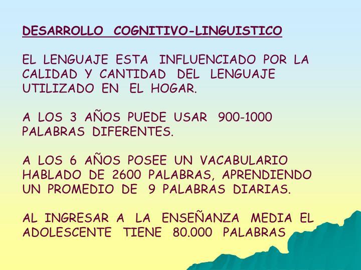 DESARROLLO  COGNITIVO-LINGUISTICO