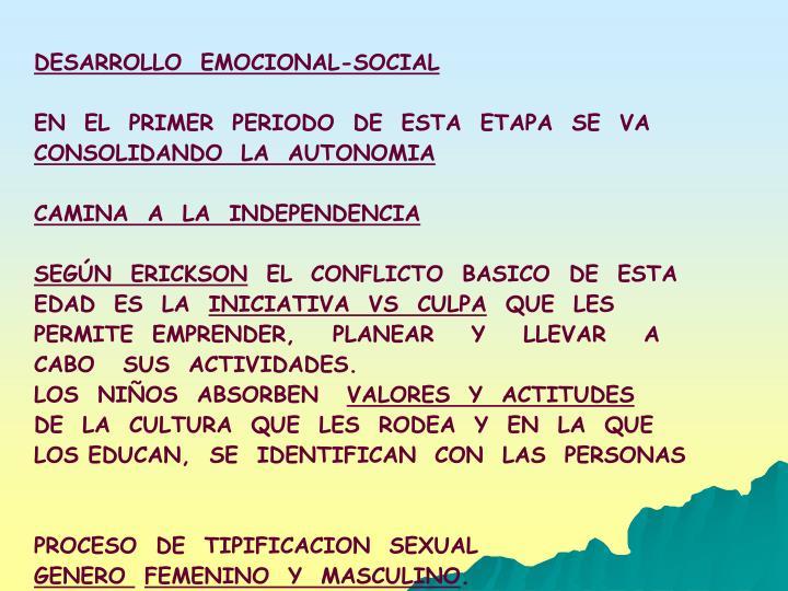 DESARROLLO  EMOCIONAL-SOCIAL