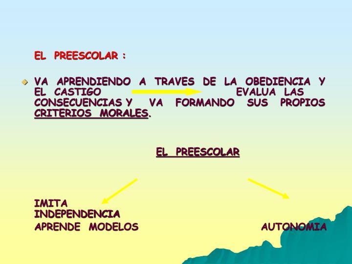 EL  PREESCOLAR :
