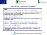 macro azione 3 formazione linguistica 1