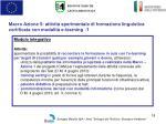 macro azione 5 attivit sperimentale di formazione linguistica certificata con modalit e learning 1