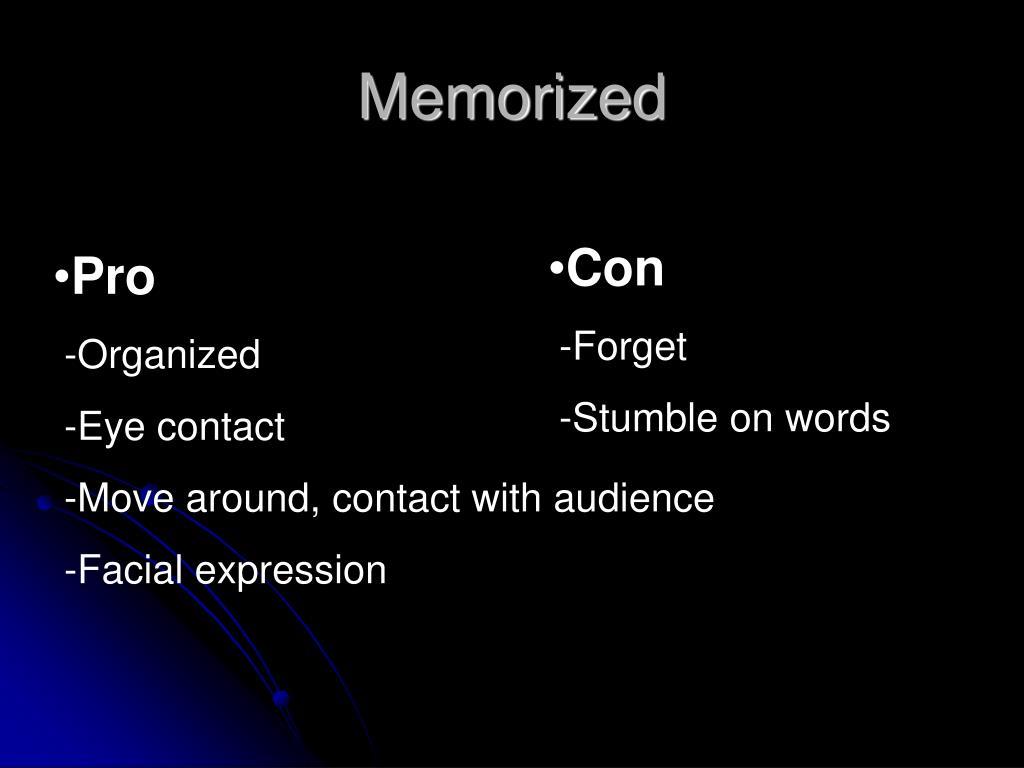 Memorized