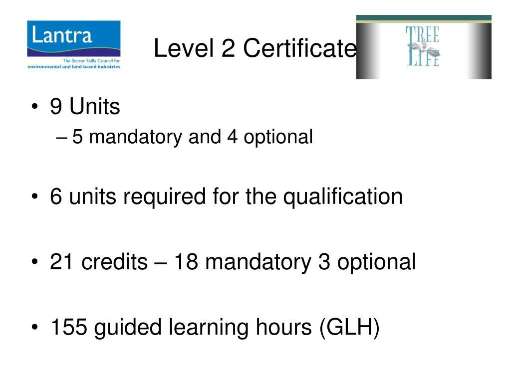 Level 2 Certificate