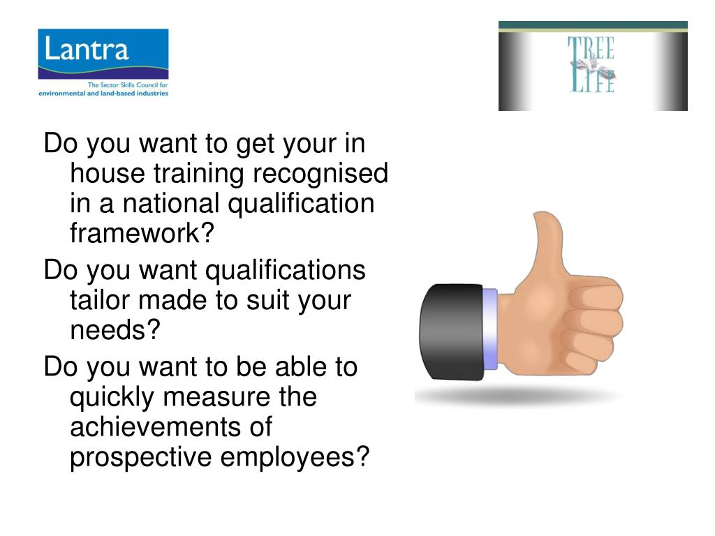 Do you want to get your in house training recognised in a national qualification framework?