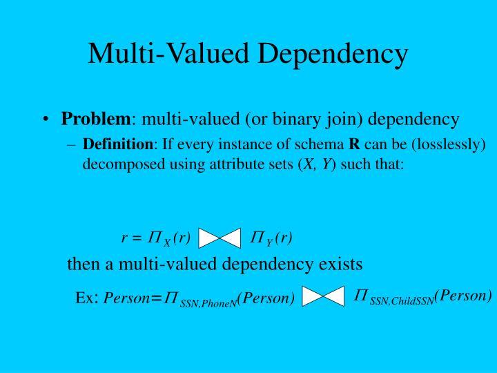 Multi-Valued Dependency