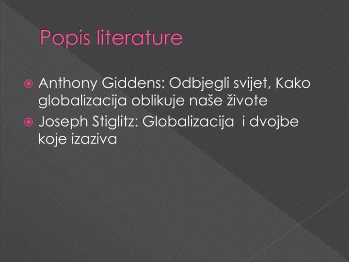 Popis literature