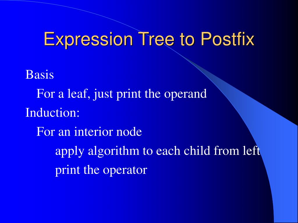 Expression Tree to Postfix