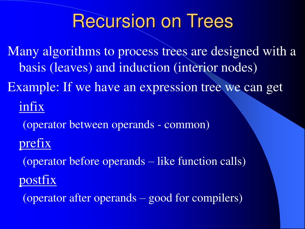 Recursion on Trees