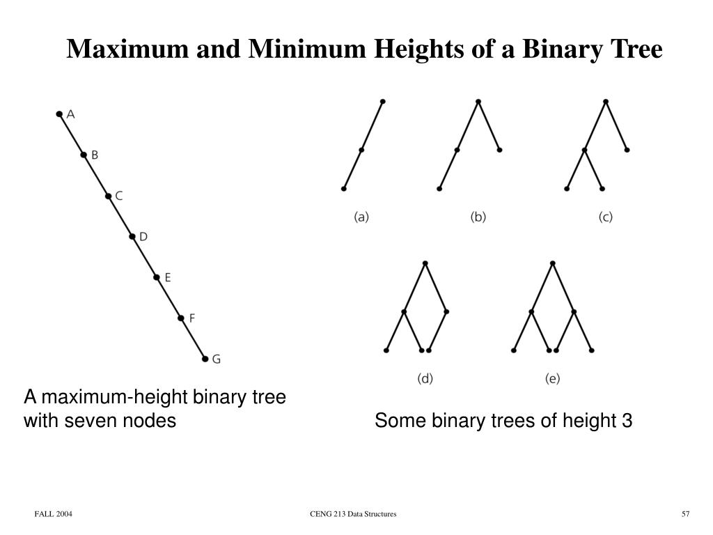 Maximum and Minimum Heights of a Binary Tree