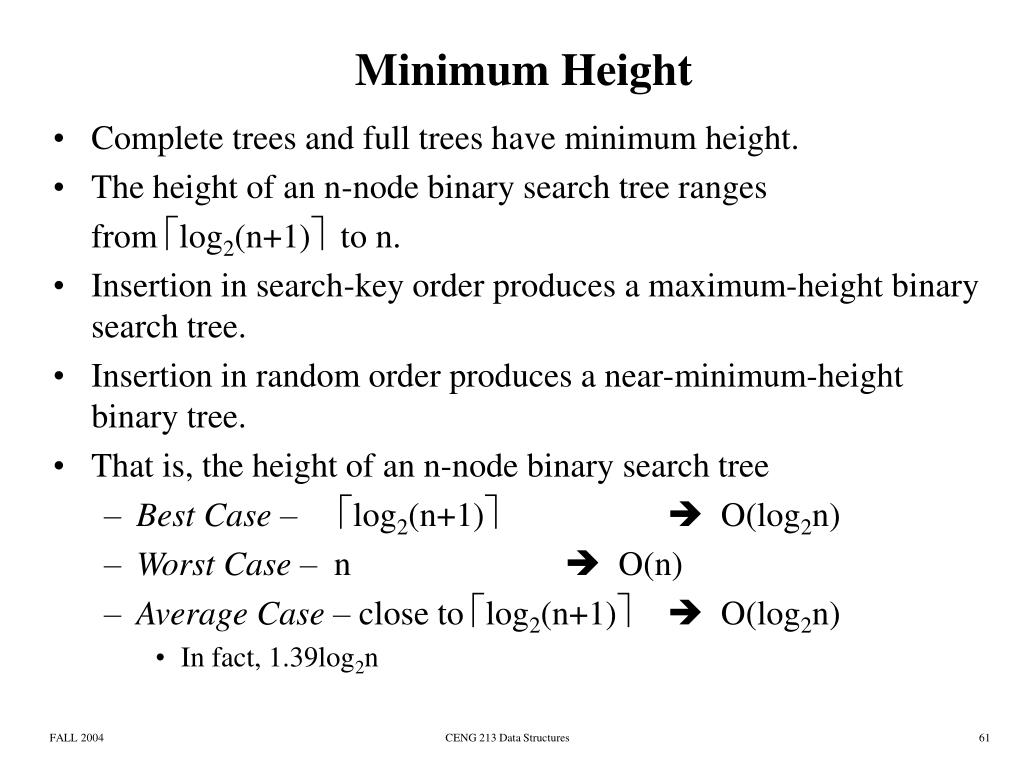 Minimum Height