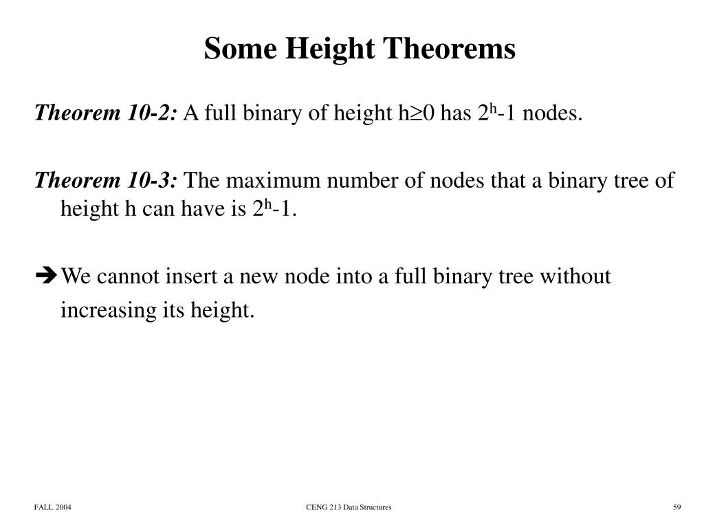 Some Height Theorems