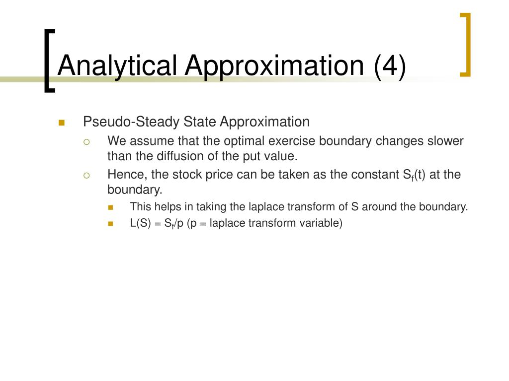 Analytical Approximation (4)