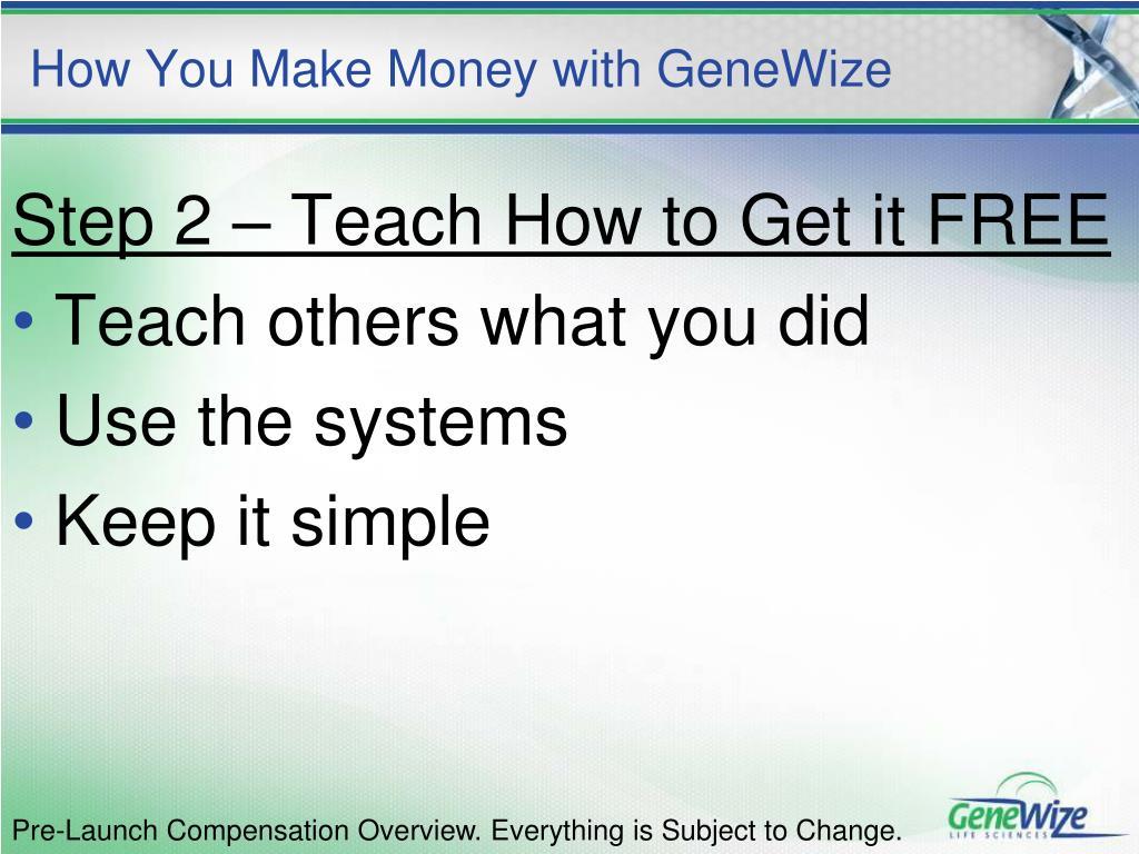 How You Make Money with GeneWize