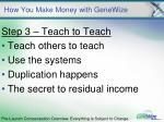 how you make money with genewize7