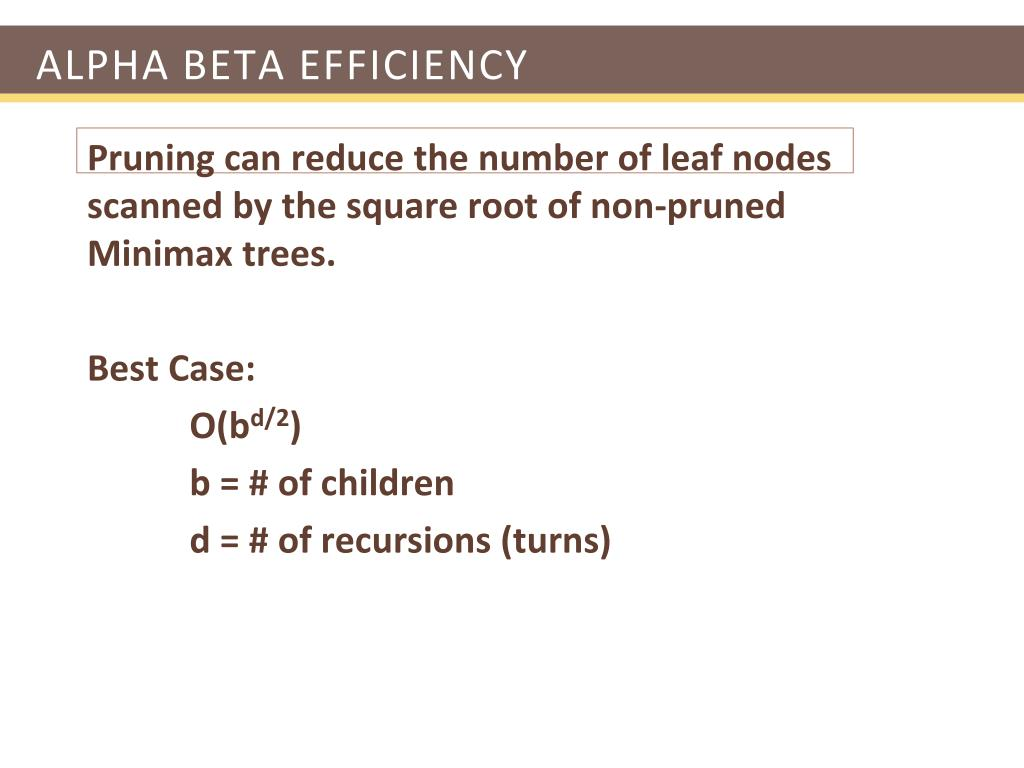 Alpha Beta Efficiency