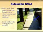 sidewalks lifted