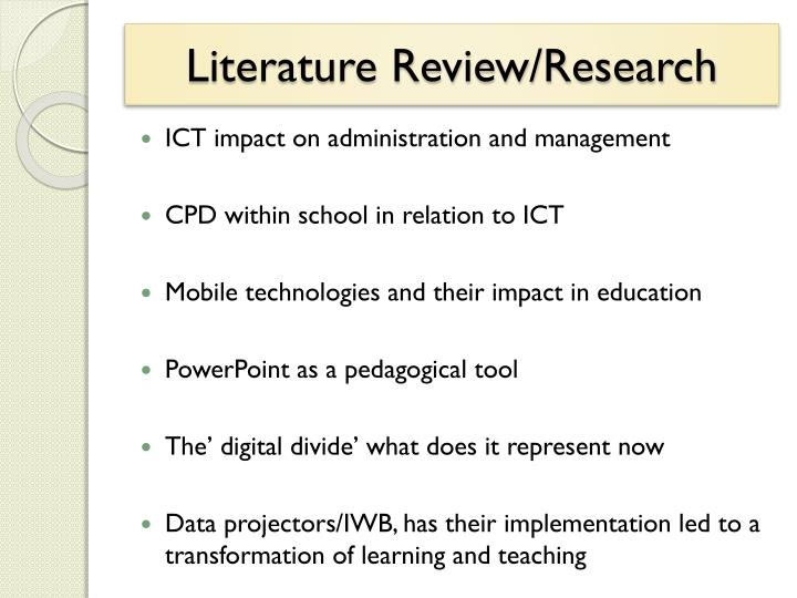 Literature review research
