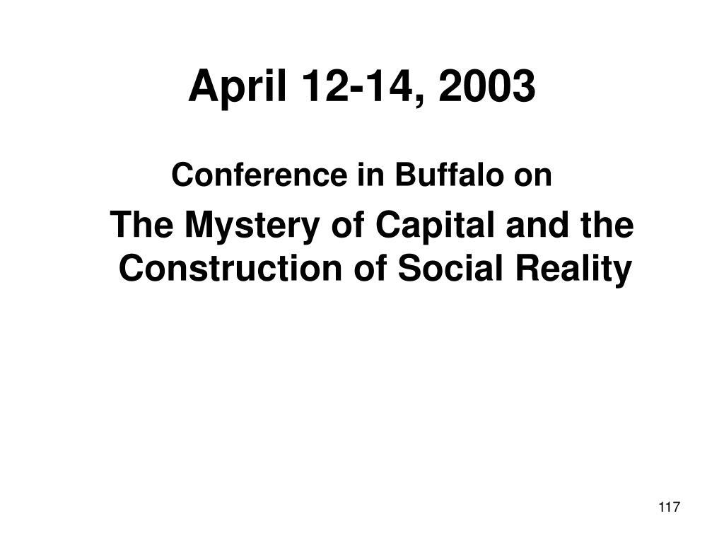 April 12-14, 2003