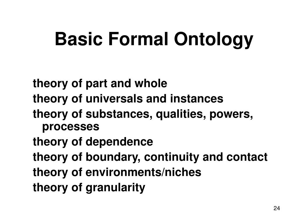 Basic Formal Ontology