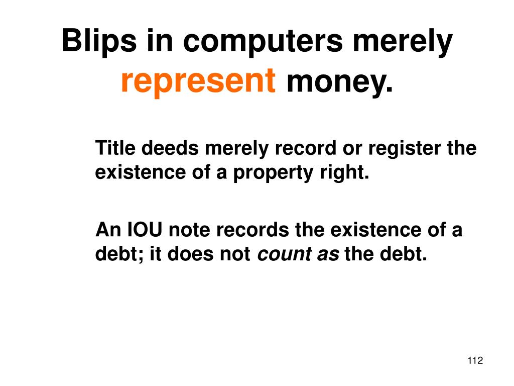 Blips in computers merely