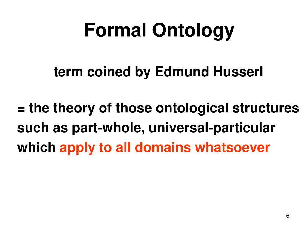 Formal Ontology